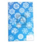 papel Cartón  Microcorrugado Estampado Maldalas lamina   Nirvana Azul blanco medio pliego 70x50cm