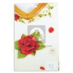 papel Cartón  Microcorrugado Estampado Rosas  lamina   Nirvana Pastel Rojo medio pliego 70x50cm