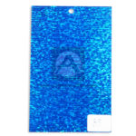 papel Cartón  Lamina Microcorrugado  Figuras Holográficas Nirvana Azul Metalizado medio pliego 70x50cm