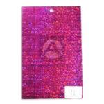 papel Cartón  Lamina Microcorrugado  Figuras Holográficas Nirvana Fucsia Metalizado medio pliego 70x50cm