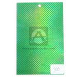 papel Cartón  Lamina Microcorrugado  Figuras Holográficas Nirvana Metalizado verde medio pliego 70x50cm