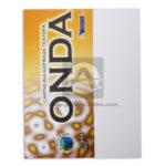 Cartulina  Gofrada Textura, Figura  de Onda láser color  Icopel blanco Carta 20 unidades