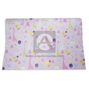 papel Cartulina Estampada Animales de la Selva Primavera Multicolor femenino medio pliego