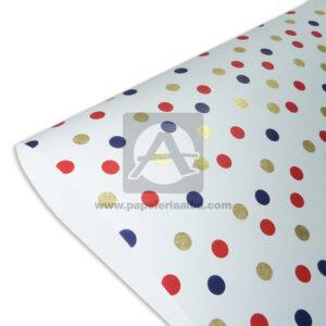 papel Cartulina Estampada punticos polka Primavera Multicolormedio pliego