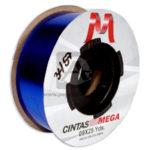 cinta decorativa  Metalizada  Mega Azul 09x25Yds 22 Mts Rollo Gruesa