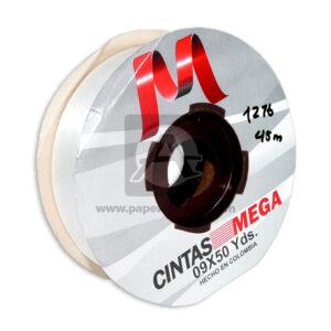 cinta decorativa Económica Metalizada Mega blanca 09 x 50 Yardas 45 Mts Rollo