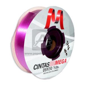 cinta decorativa Económica Metalizada Mega fucsia 09 x 50 Yardas 45 Mts Rollo a