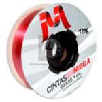 cinta decorativa  Económica Metalizada  Mega Rojo 09 x 50 Yardas 45 Mts Rollo Gruesa