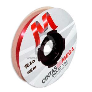 cinta decorativa Económica Metalizada Mega rojo 04 x 50 Yardas 45 Mts Rollo Delgada