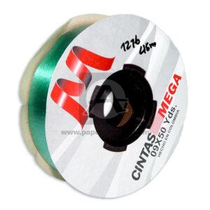 cinta decorativa Económica Metalizada Mega verde 09 x 50 Yardas 45 Mts Rollo