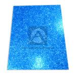 Espuma de Manualidades   Foamy Escarchado Goma EVA El Papelero Azul Cuatro Carta 43cmx56cm
