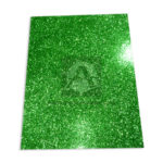 Espuma de Manualidades   Foamy Escarchado Goma EVA El Papelero verde Cuatro Carta 43cmx56cm