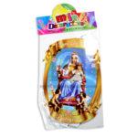 festón   de la Virgen del Carmen  y el Niño Jesus  Mile Decoraciones Multicolor Grande