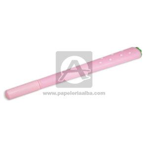 lapicero bolígrafo En gel con Figura de Goma, Fresita Madcolor Rosado Tinta Negra femenino 0.7mm Punta fina Punta Metálica