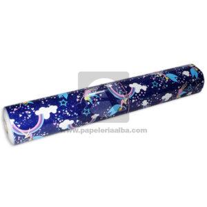 papel Adhesivo Pegafacil Contact Estampado noche Formas y colores Multicolor femenino 100 cm