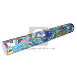 papel Adhesivo Pegafacil Contact Estampado Tumbrl figuras Formas y colores Multicolor femenino 100 cm