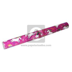 papel Adhesivo Pegafacil Contact Estampado Unicornios Formas y colores Multicolor femenino 100 cm