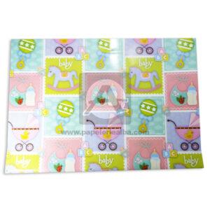 papel Decorado Estampado en artículos de Bebes para Baby Shawer Primavera Multicolor unisex medio pliego