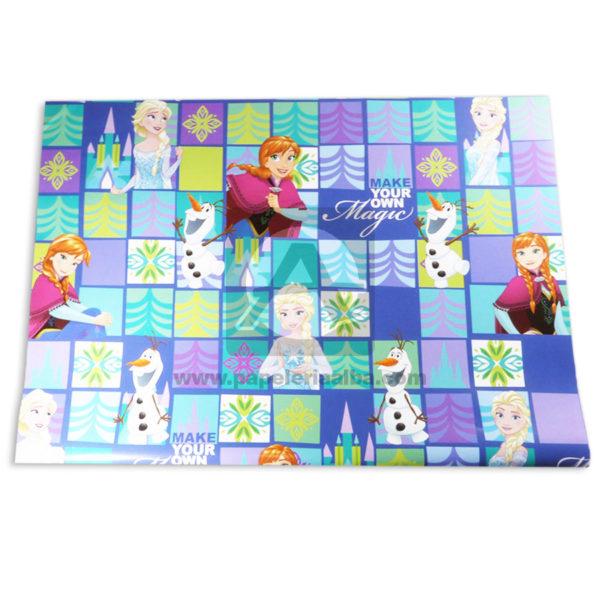 papel Decorado Estampado personajes disney Princesas Anna y Elsa Primavera Multicolor medio pliego