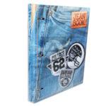 pasta carpeta  95 de  Argollas jean book  parches  Norma Multicolor femenino Pequeña