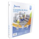 pasta carpeta  Catalogo De Aros con bolsillo interior  Norma blanco Carta 0,75''