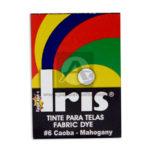 tinta para ropa  Fabric Dye #6 Iris Caoba Tinte para Tela Caja 15 gramos