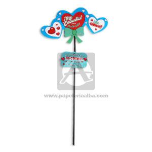 accesorio de decoración Pin Hablador con Frase de amor, Me encantas! Corazones Fiesta Multicolor Grande unisex Cartón