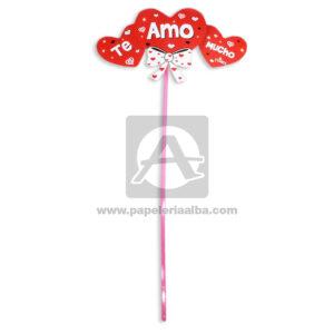 accesorio de decoración Pin Hablador forma de corazones con Frase de amor, te amo mucho Fiesta Multicolor Grande femenino Cartón