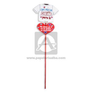 accesorio de decoración Pin Hablador Forma de Camiseta con Frase de amor, con mucho cariño para ti. Mis ganas de ti no se quitan, se acumulan! Fiesta Multicolor Grande femenino Cartón