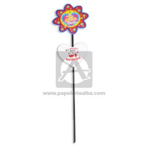 accesorio de decoración Pin Hablador forma de corazón y Flor con Frase de amor, te amo. Lo nuestro tiene química Fiesta Multicolor Grande femenino Cartón
