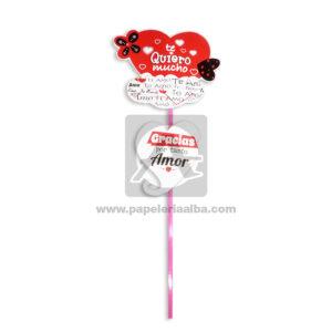 accesorio de decoración Pin Hablador con Frase de amor te quiero mucho, gracias por tanto amor Fiesta Multicolor Grande femenino Cartón