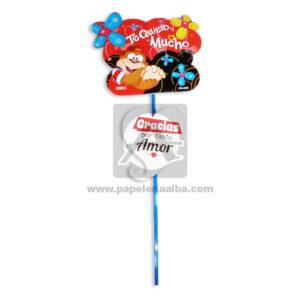 accesorio de decoración Pin Hablador con Frase de amor, te quiero mucho. Gracias por tanto amor Fiesta Multicolor Grande femenino Cartón