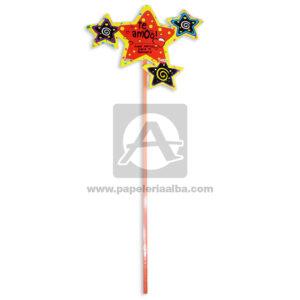 accesorio de decoración Pin Hablador forma de estrella con Frase amorosa, te amo Fiesta Multicolor Grande femenino Cartón