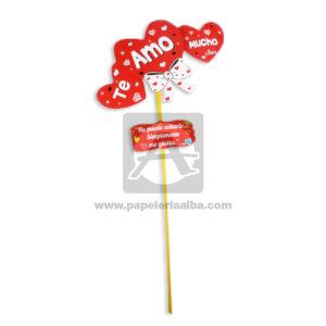 accesorio de decoración Pin Hablador forma de corazón con Frase amorosa, Te amo mucho Fiesta Multicolor Grande femenino Cartón