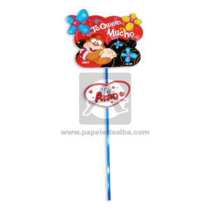 accesorio de decoración Pin Hablador con Frase de amor, Te quiero Mucho Fiesta Multicolor Grande femenino Cartón