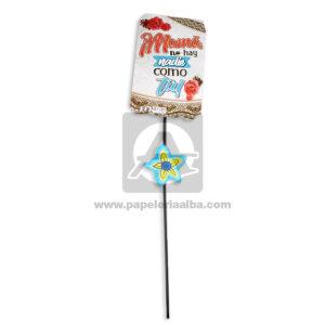 accesorio de decoración Pin Hablador con Frase para el día de la madre, Mamá no hay nadie como tu Flores Fiesta Multicolor Grande femenino Cartón