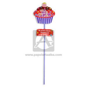 accesorio de decoración Pin Hablador con Frase de amor, Te amo Cupcake Fiesta Multicolor Grande femenino Cartón