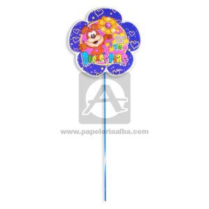 accesorio de decoración Pin Hablador forma de flor con Frase de saludo, Buenos días Fiesta Multicolor Grande femenino Cartón