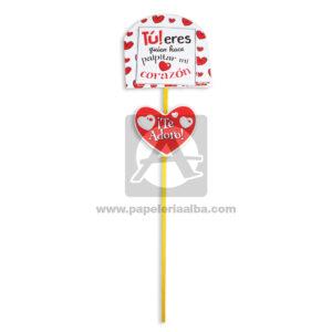 accesorio de decoración Pin Hablador con Frase, tu eres quien hace palpitar mi corazón. Te adoro! Fiesta Multicolor Grande femenino Cartón