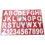 plantilla  Letras del Abecedario  y números  El Papelero Rojo Grande Plástico