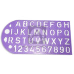 plantilla  Letras del Abecedario Mayúscula  y números  + círculos y flechas  El Papelero Lila Mediana  Plástico