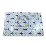 papel  Celofán Estampado Ancla Primavera Azul Transparente Pliego 70x100