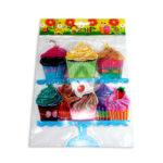 accesorio de decoración  Para Pared Cupcakes  El Puntazo Multicolor Grande unisex Plástico