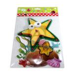 accesorio de decoración  Para Pared Animales Marinos  El Puntazo Multicolor Grande unisex Plástico