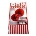 accesorio de decoración  Girasol Decoration Fan  MiniToys Rojo Grande 30cm 2 Unidades