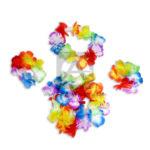 collar   Manillas y balaca  de Flores  Hawallano  Surtifantasias Multicolor unisex 4 unidades
