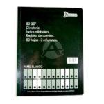 libro de contabilidad  Directorio Registro de cuentas 80-3ZF Norma Mediano 80 hojas blanco