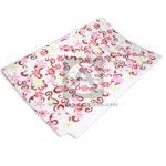 papel  Arte estampado de Flores  Gomezul blanco Multicolor medio pliego 50x70cms