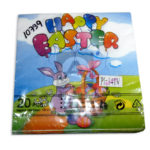 servilleta  Happy Easter Conejo  Cuantias 20 unidades Multicolor Pequeña