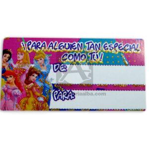 tarjeta para regalos disney princesas Mayorga 1 unidad Niña Surtido
